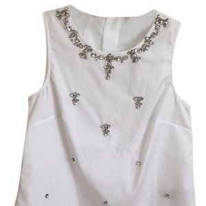 J. Crew Collection Jeweled Sleeveless Top